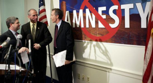 ... from L-R), Bob Beauprez (R-CO) and Virgil Goode (R-VA) stand beside a