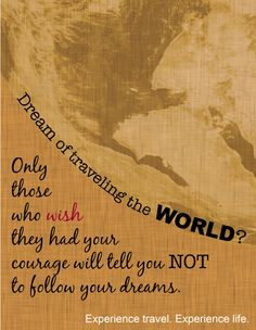 Inspiring #travel quote https://www.facebook.com/pages/Endless ...