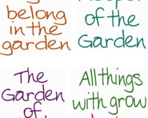 GARDEN Quotes Embroidery Machine De signs Digital Download ...