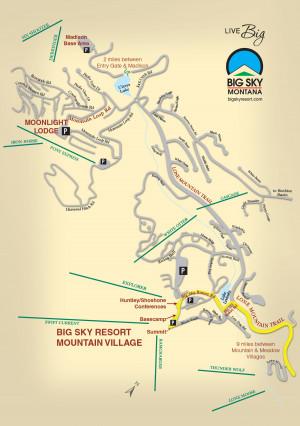 Big Sky Resort Map