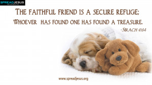 HD WALLPAPERS: HOLY BIBLE QUOTES : Sirach 6:14-The faithful friend ...