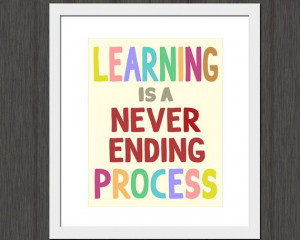 Learning is a Never Ending Process by MuseStruckStudio on Etsy, $12.50