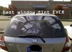funny star wars, best window tint ever