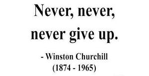 Details about Winston Churchill Never never never give up Quote Wall ...