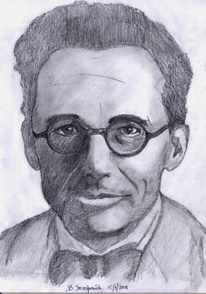 Erwin Schrodinger portrait by Bartek21
