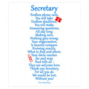 CafePress > Wall Art > Posters > Secretary Thank You Wall Art Poster