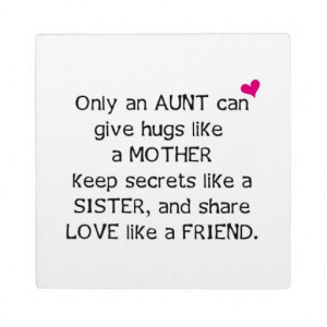 Aunt Quote Photo Plaques