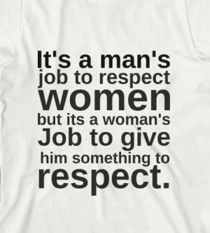 Its A Mans Jobs To Respect Women