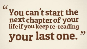 Past Quotes Past quote: you can't start