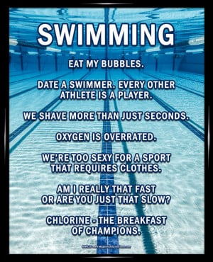 Funny swimming quotes about friends quotesgram for Swimming pool quotes