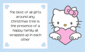 Hello Kitty Christmas Quotes Tag Label Printable