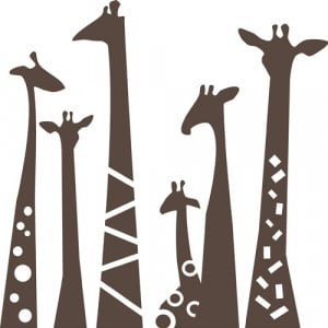 Giraffe Necks Wall Decal - Cute for a nursery!