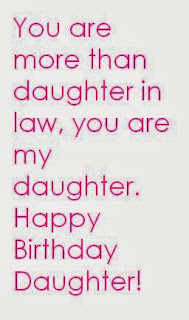 Daughter in Law Birthday Quotes, Sayings and Wishes