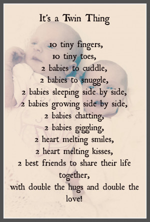 Twin Sister Poems Quotes