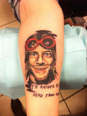 Kurt Cobain Quote Tattoo Kurt Cobain Quote Tattoo