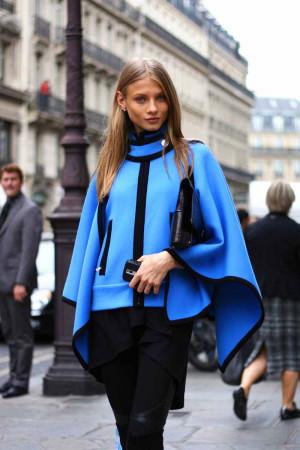 style: Color, Annaselezneva, Jackets, Street Styles, Blue Capes, Blue ...