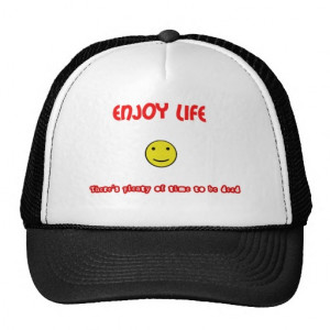 Funny quotes Enjoy life Mesh Hats