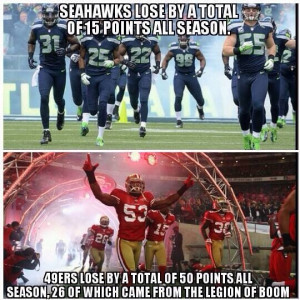 cool fact about the 49ers vs. Seahawks (courtesy of Seattle ...