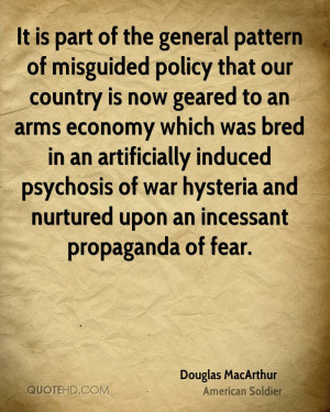 It is part of the general pattern of misguided policy that our country ...