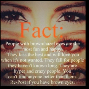 Brown/Hazel Eyes: Hazel Eye