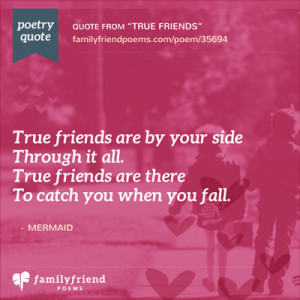 Quote About True Friends Being By Your Side