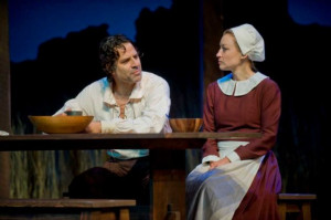 Christopher Innvar and Kim Stauffer play John and Elizabeth Proctor in ...