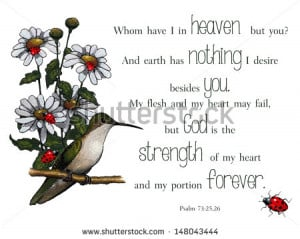 Bible Verse, Psalms, With Artwork of Bird and Flowers. These verses ...