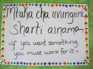 """The quote actually translates to """"if you wantsomething under your ..."""