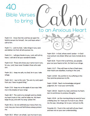 Anxiety Quotes Bible 40 bible verses to calm an