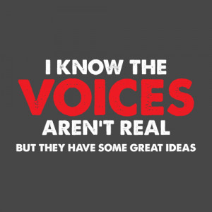 KNOW THE VOICES IN MY HEAD AREN'T REAL, BUT THEY HAVE SOME GREAT ...