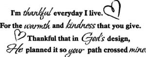 Thankful Everyday I Live....Inspirational Wall Quote Words ...