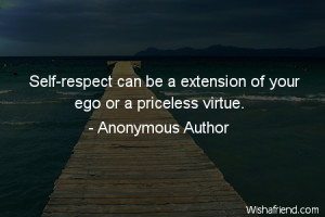 self-respect-Self-respect can be a extension of your ego or a ...