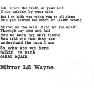 Little wayne mirror on the wall