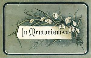 In Memoriam - A Friend