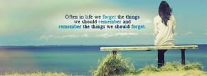 ... Nature Wallpaper with Quotes for Facebook Cover – Women in Beach