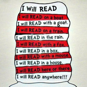 Celebrating reading with Dr. Seuss week. Any chance we get at Runoia.