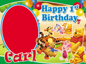 Winnie the Pooh Birthday Layout