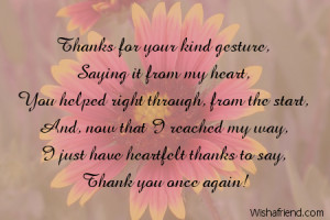your gesture thanks for your kind gesture saying it from my heart you ...