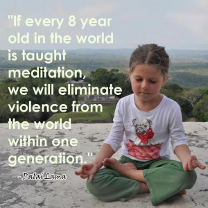 Dalai Lama Teach Children Meditation