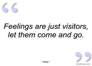 feelings are just visitors mooji