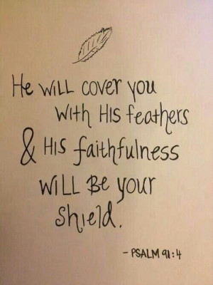 He will cover you with his feathers. ..