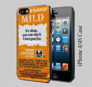 Taco Bell Sauce Packet Sayings - iPhone 4/4S Case