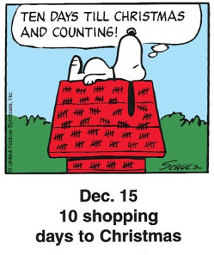 Ten days till Christmas and counting!