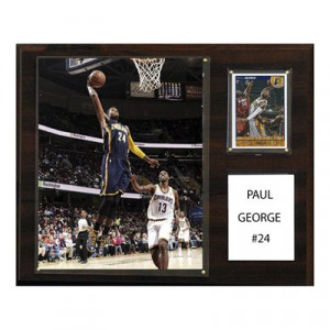 ... Collectables 1215PGEORGE Paul George Indiana Pacers NBA Player Plaque