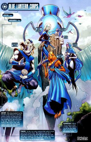 DC Comics Blue Lanterns Corps *Blackest Night*