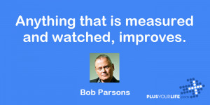 Bob Parsons Anything that is measured and watched improves