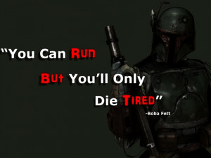 star wars black guns dark red military white quotes boba fett battle ...