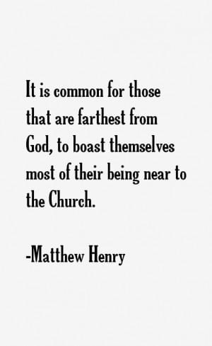 Return To All Matthew Henry Quotes