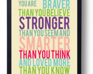 ... Baby Theme Ideas-Winnie the Pooh Quote-You Are Stronger than You Seem