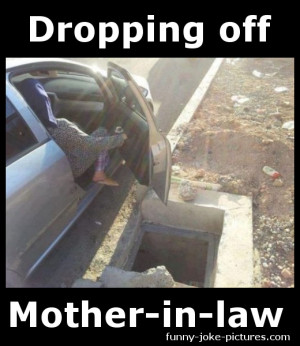 Hilarous Dropping Off Mother-in-law Photo Meme